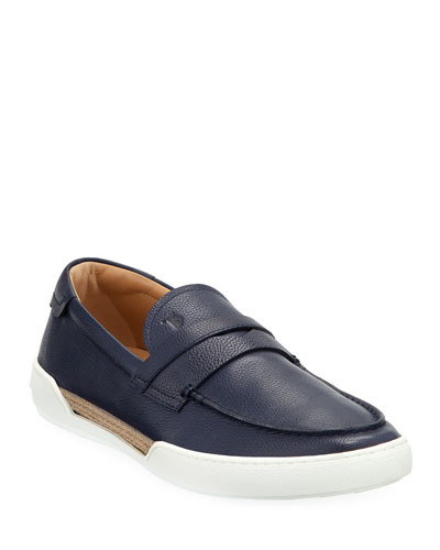 Men's Leather Espadrille Loafer Sneakers