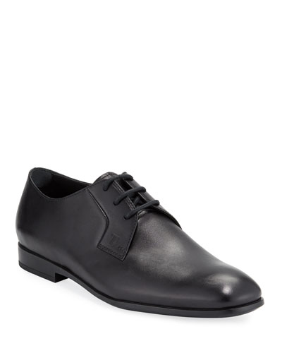 Men's Smooth Leather Derby Shoes