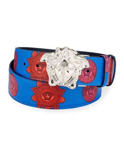 Men's Reversible Medusa Head Leather Belt