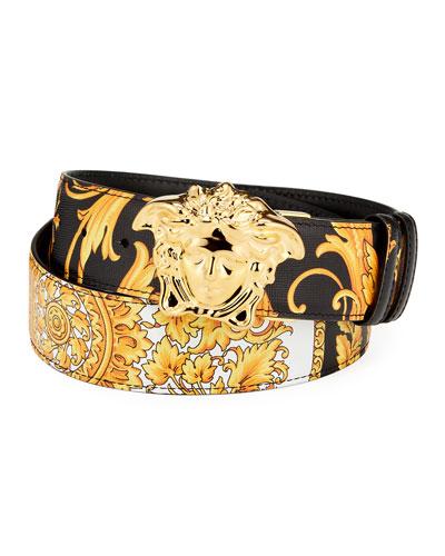 Men's Reversible Barocco Medusa Leather Belt