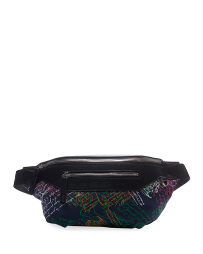 Men's Complice Multicolor Script Belt Bag