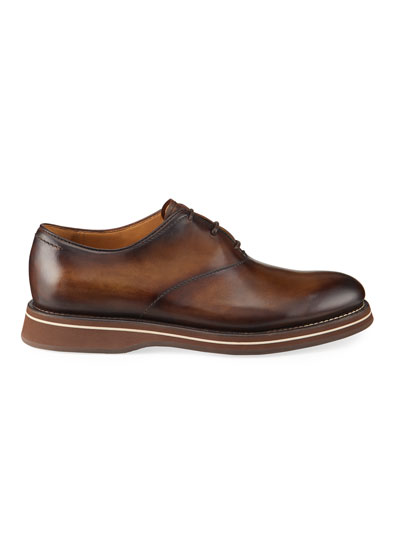 Men's Venezia Burnished Leather Oxford Shoes