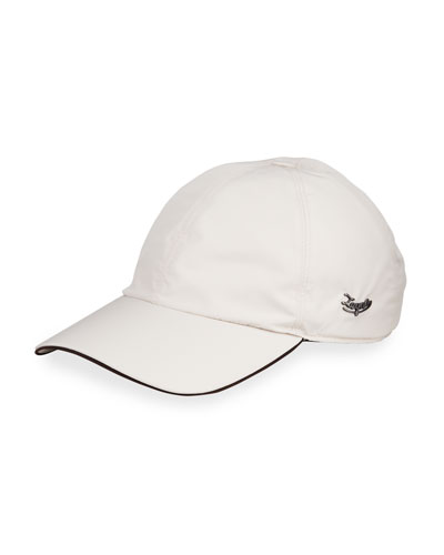Men's Contrast-Trim Logo Baseball Cap
