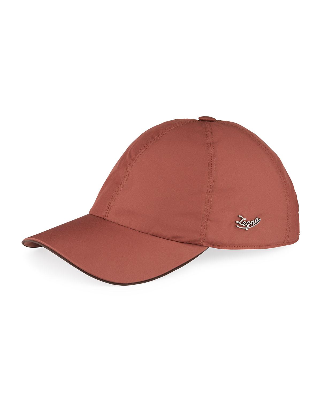 Ermenegildo Zegna MEN'S BASEBALL CAP W/ LOGO PLAQUE