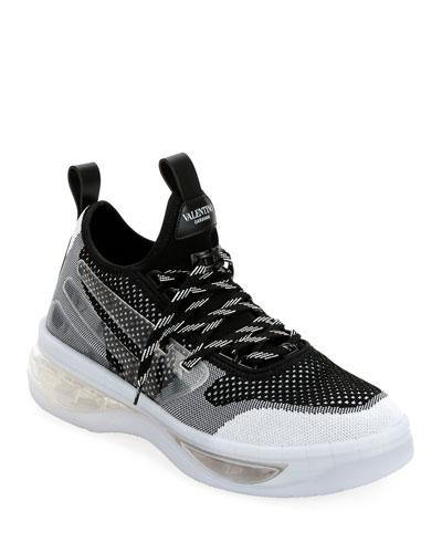 Men's V-Cloud Colorblock Sock Sneakers, White