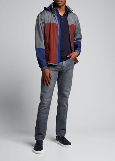 Men's Lightweight Colorblock Wind Jacket