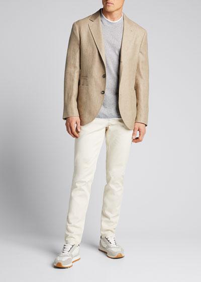 Men's Micro-Stripe Tipped T-Shirt