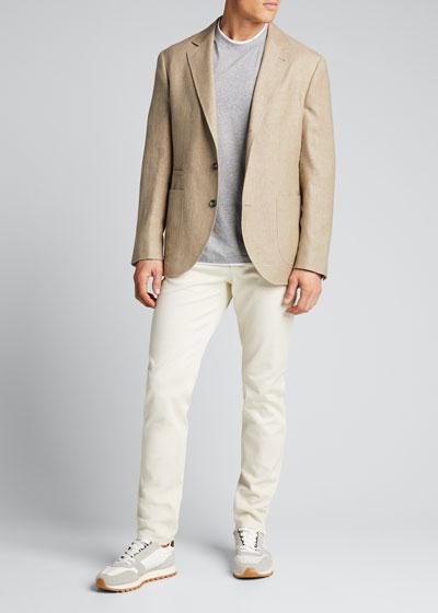 Men's Hopsack Two-Button Jacket