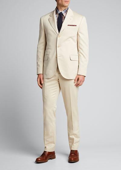 Men's Sea Island Cotton Two-Piece Suit