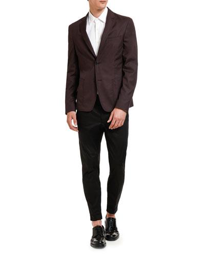 Men's Poplin Two-Button Jacket