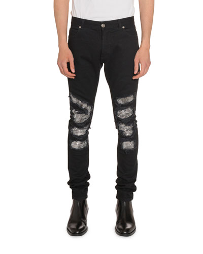 Men's Slim-Fit Distressed Jeans
