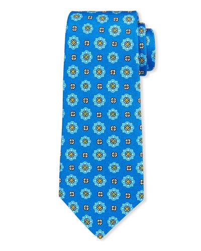 Men's Alternating Medallions Silk Tie