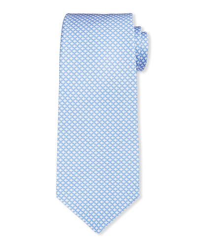 Men's Geometric Fish Silk Tie