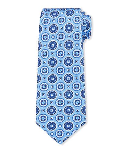 Men's Circle Medallions Silk Tie