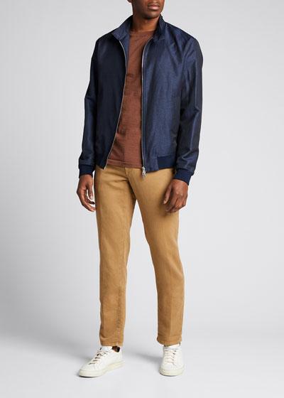 Men's Harrington Wool/Linen Jacket