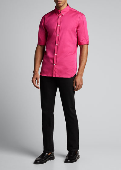 Men's Short-Sleeve Slim-Fit Sport Shirt