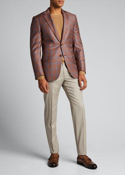 Men's Wool Straight-Leg Pants