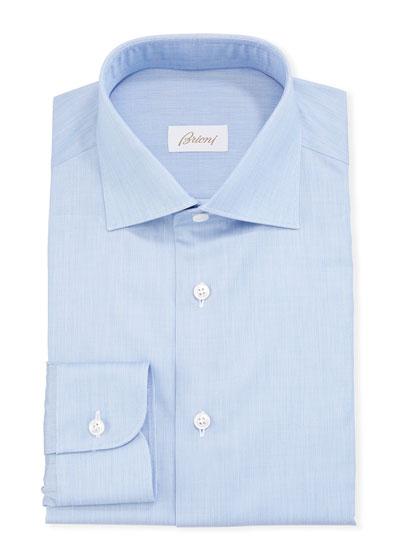 Men's Chambray Poplin Dress Shirt
