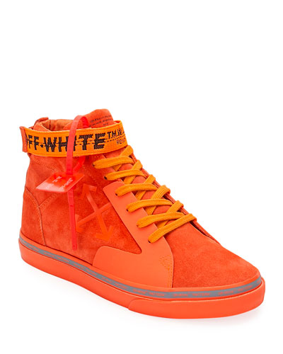 Men's Tonal Suede Mid-Top Skate Sneakers
