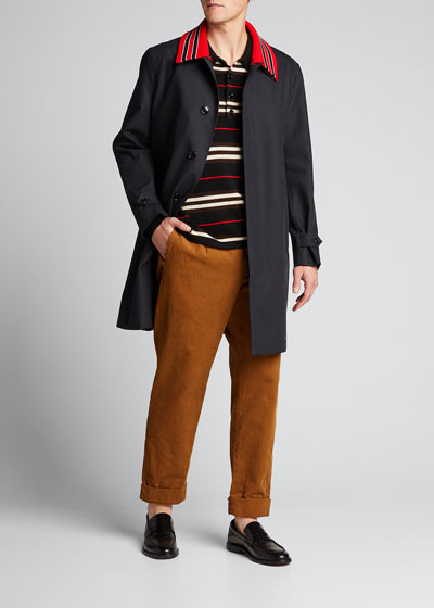 Men's Pimlico Knit-Collar Rain Coat