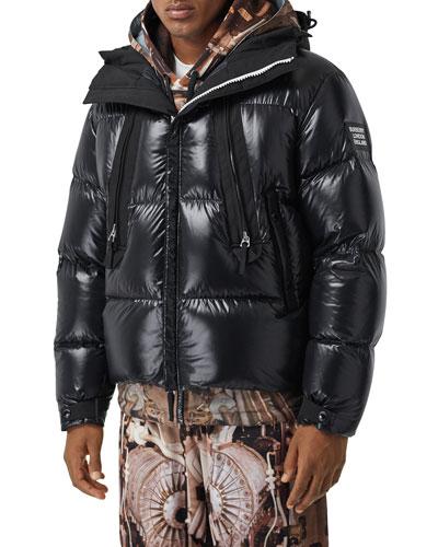Men's Desford Nylon Zip-Front Puffer Coat