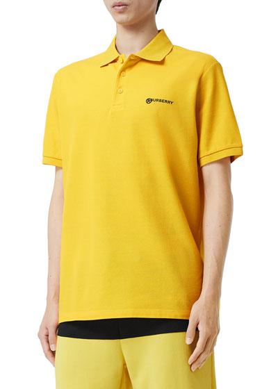 Men's Howie Logo-Text Polo Shirt