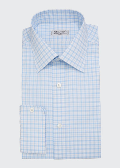 Men's Check French-Cuff Dress Shirt
