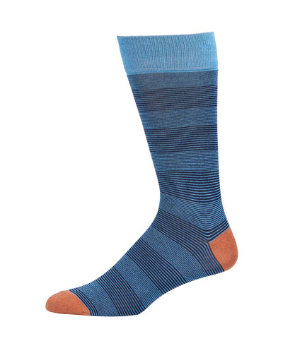 Alternating Needlecord Stripe Socks