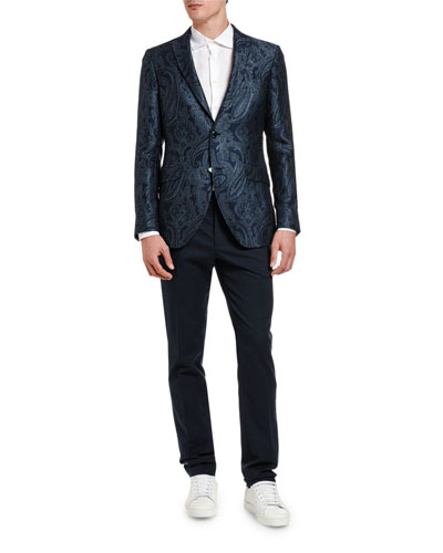 Men's Shiny Floral Paisley Sport Jacket