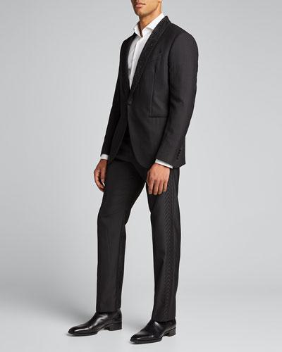 Men's Chevron Side-Stripe Tuxedo Pants