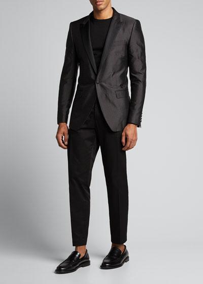 Men's Satin Dot Evening Jacket