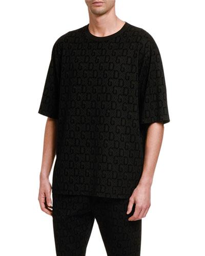 Men's Felted Jacquard T-Shirt