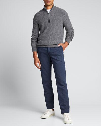 Men's Half-Zip Cashmere Sweater