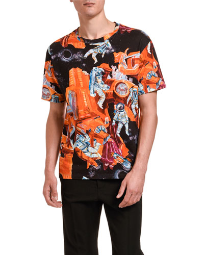 Men's Spaceman Multi Graphic Short-Sleeve T-Shirt