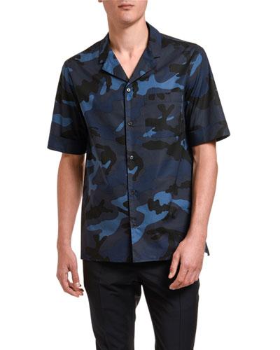 Men's Camouflage Sport Shirt w/ Pocket