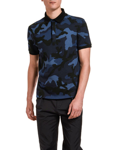 Men's Camo Pattern Polo Shirt