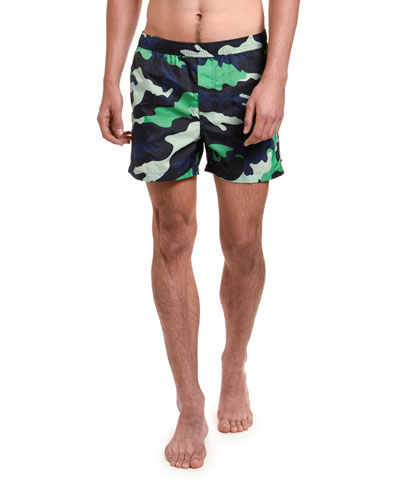 Men's Nylon Camo Swim Trunks