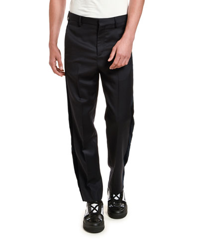 Men's Basic Zip-Pocket Navy Pants