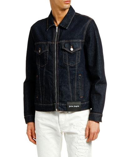 Men's PXP Zip-Front Denim Jacket