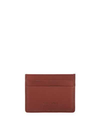 Men's Woven Leather Card Case
