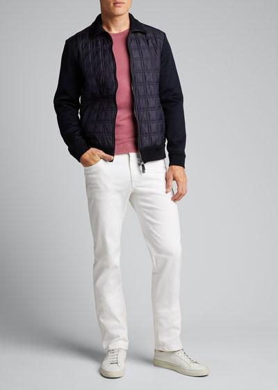 Men's Quilt Knit Blouson Jacket