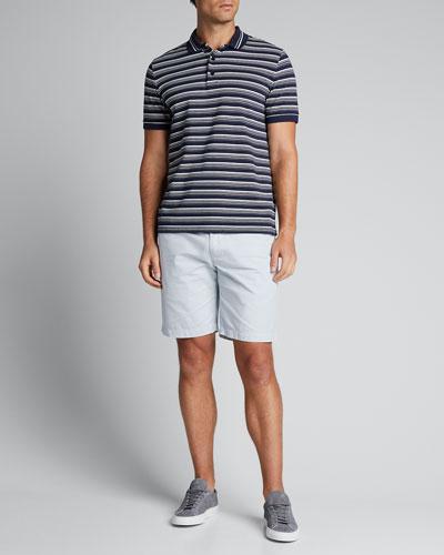 Men's Pique Stripe Polo Shirt