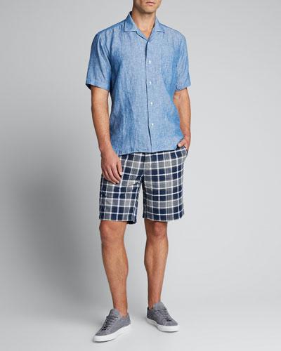 Men's Chambray Camp Shirt