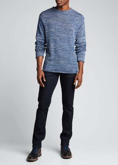 Men's Rolled-Edge Heathered Sweater