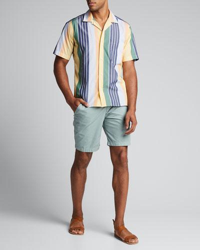 Men's Multi-Stripe Camp Shirt
