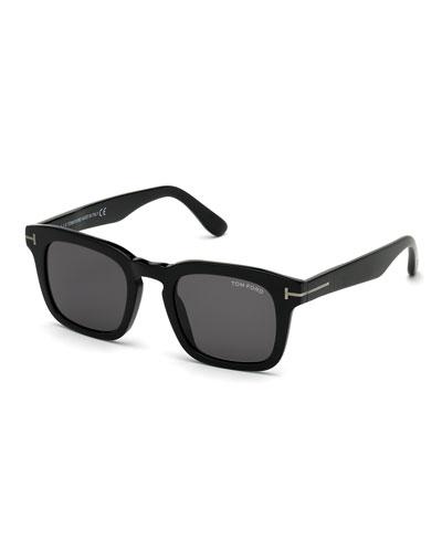 Men's Dax Square Solid Acetate Sunglasses