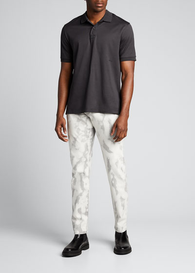 Men's 002 Slim-Fit Bleached Jeans