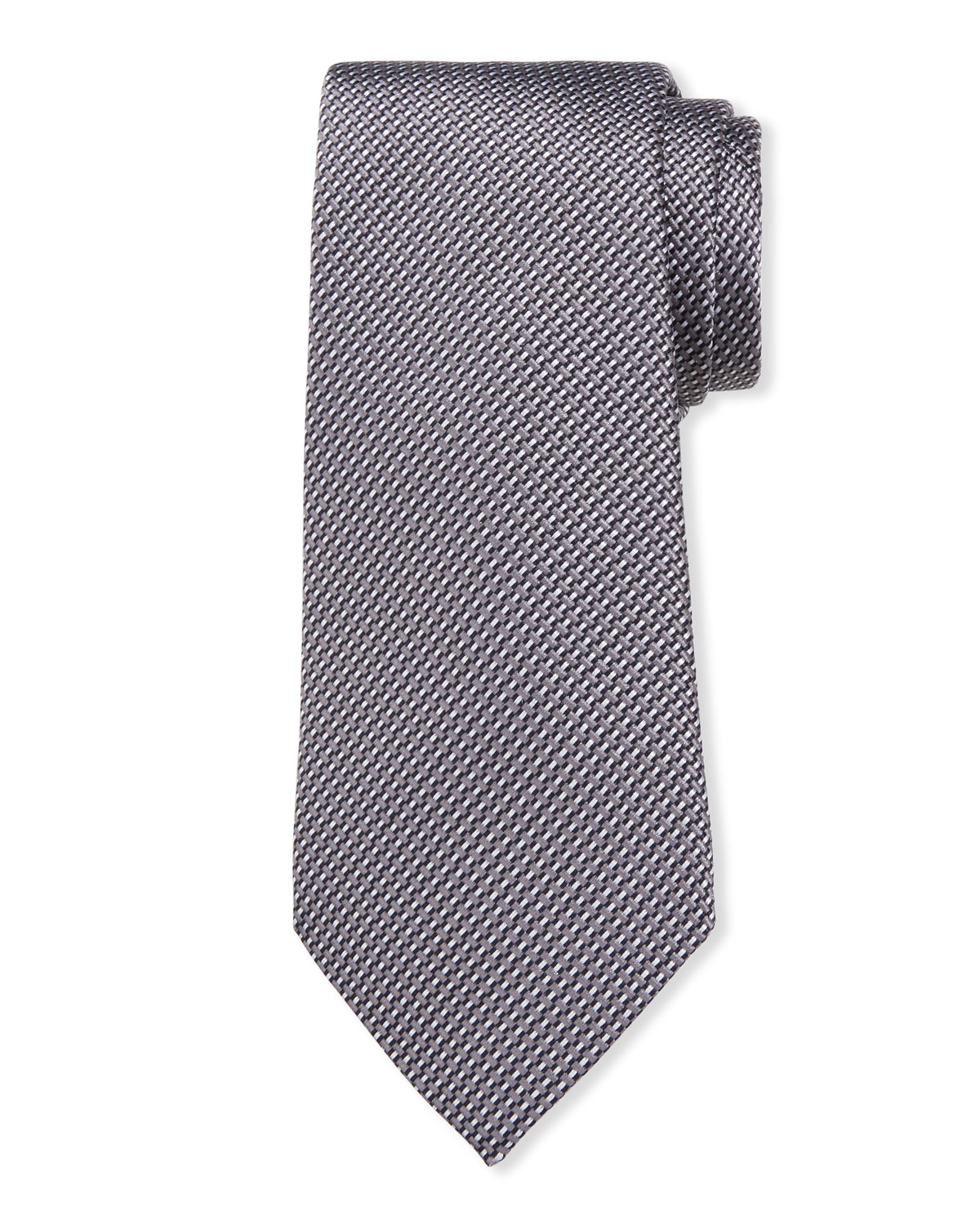 Giorgio Armani Tie MEN'S LINEAR JACQUARD SILK-COTTON TIE