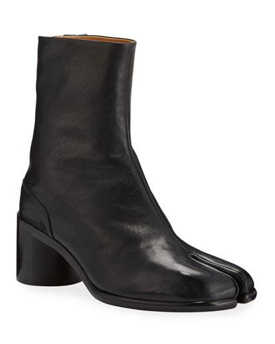 Men's Tabi Split-Toe Leather Ankle Boots