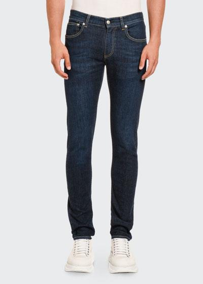 Men's Slim-Leg Dark-Wash Jeans